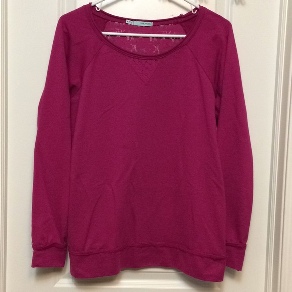 Maurices Tops - Berry colored lace back along sleeve